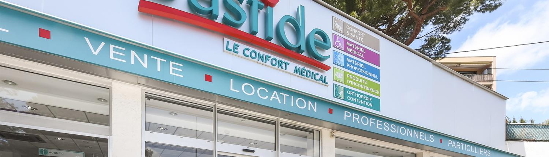 bastide le confort médical cannes façade vitrine vente et location
